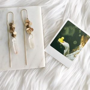 Hand crafted natural stone earrings
